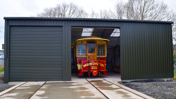 The tram display shed with tram 111